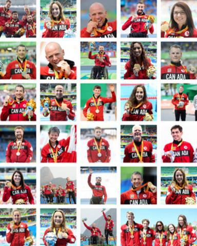 Le Canada termine ces Jeux avec 29 médailles (huit d'or, 10 d'argent, 11 de bronze) pour se classer 14e dans le décompte total des médailles par pays, surpassant l'objectif de performance de l'équipe de terminer parmi les 16 premiers. Photo: Comité paralympique canadien (Groupe CNW/Comité paralympique canadien (CPC))