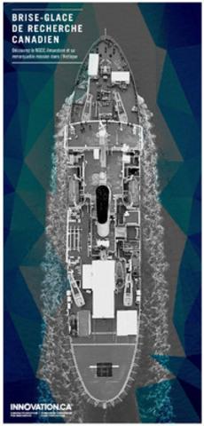 Le brise-glace de recherche canadien - Une nouvelle fonctionnalité multimédia propose une visite virtuelle du NGCC Amundsen et de ses missions nordiques (Groupe CNW/Fondation canadienne pour l'innovation)