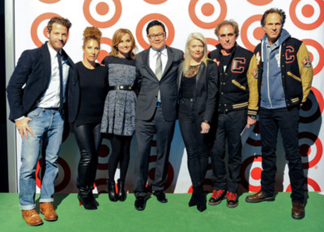 Target officially unveiled its exclusive designer partners, owned brands and limited time only collections that will be available in Canada when stores start opening in March/April 2013. John Morioka, senior vice president, Merchandising, was joined by Target's exclusive designer partners Nate Berkus, Sonia Kashuk, Giada De Laurentiis, Kate Young, Michael Budman, Don Green and Shaun White (via satellite) at a private media event in Toronto last night to share the much anticipated news with Canadians. (CNW Group/Target)
