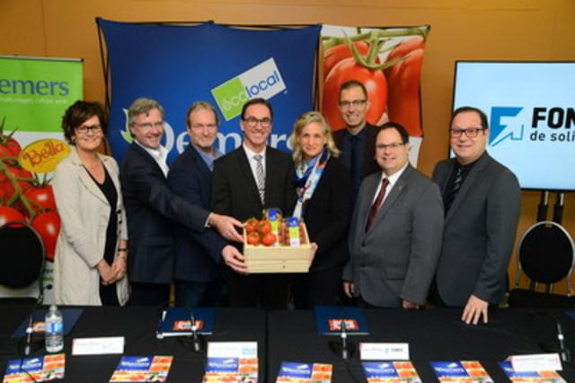 Semer la croissance économique à Drummondville : Les Productions Horticoles Demers annonce un investissement de 25 M$ (Groupe CNW/Productions Horticoles Demers)