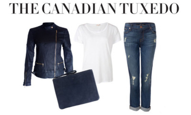 Canadian Tuxedo for MasterCard Stylicity redefined by merchant partner eLUXE.ca (CNW Group/MasterCard Canada)