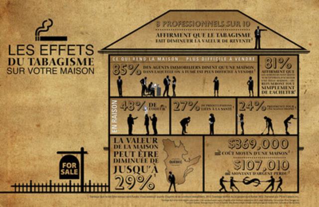 Les effets du tabagisme sur votre maison - infographique (Groupe CNW/Pfizer Canada Inc.)