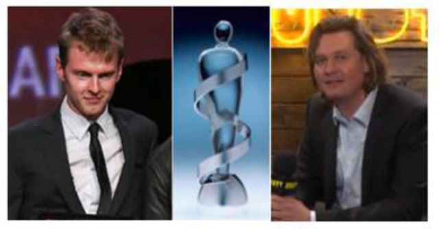 "Henry ""Cirkut"" Walter (left) won the 'Jack Richardson Producer of the Year' Juno Award Eric Ratz (right) won the 'Recording Engineer of the Year' Juno Award (CNW Group/Harris Institute)"