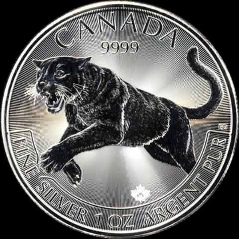 La pièce d'investissement de une once en argent pur à 99,99 % Prédateurs canadiens : Le couguar, de la Monnaie royale canadienne (Groupe CNW/Monnaie royale canadienne)