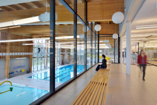 Institutional-Commercial <$10M Wood Design Award Winner - Oak Ridges Community Centre, Richmond Hill, ON; Architect: Perkins+Will Canada; Engineer: Smith + Andersen (CNW Group/Ontario Wood WORKS!)
