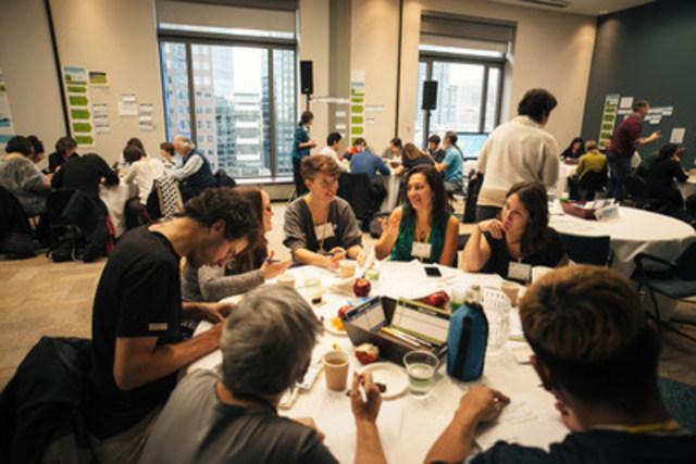 Près de 100 personnes ont débattu hier à l'OCPM afin de trouver des solutions pour réduire la dépendance aux énergies fossiles de Montréal. Cela s'ajoute aux 3000 contributions recueillies dans la consultation en ligne vertMtl.org. (Groupe CNW/Office de consultation publique de Montréal)