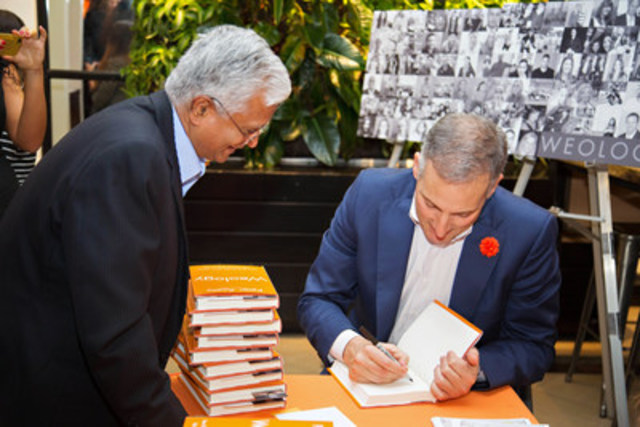 Peter Aceto, president and CEO of Tangerine, signed copies of his new leadership book, Weology, at the Toronto ...