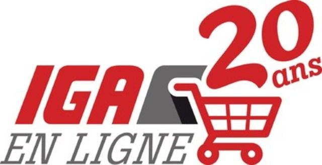 Logo : 20e anniversaire - Épicerie en ligne IGA (Groupe CNW/IGA)