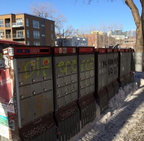 Postes Canada n'a pas communiqué avec l'Arrondissement avant d'installer ses boites communautaires. (Groupe CNW/Ville de Montréal - Arrondissement du Sud-Ouest)