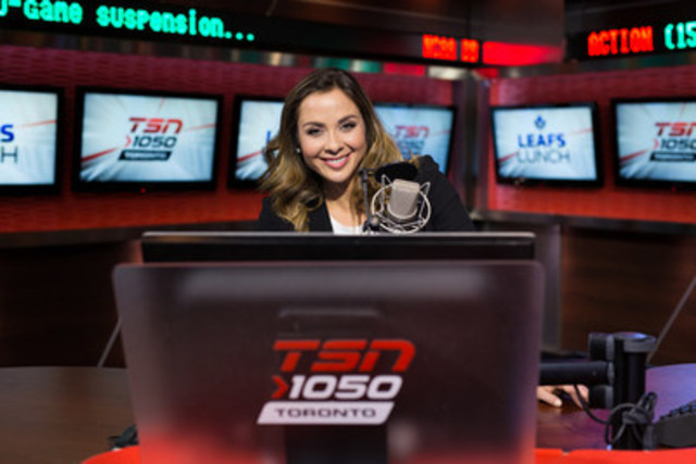 Andi Petrillo becomes Canada's first female daily sports radio host as the new voice of LEAFS LUNCH (CNW Group/TSN2)