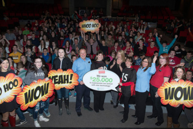 Staples announced that Sussex Regional High School receives $25,000 worth of new technology as winners in the Staples Superpower your School Contest. (The Canadian Press Images) (CNW Group/Staples Canada Inc.)