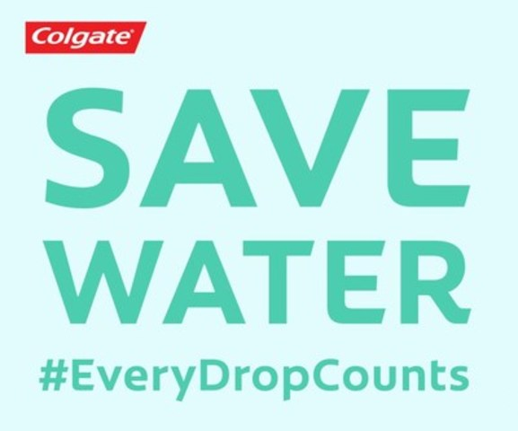 To make a personal pledge to save water, use #EveryDropCounts or visit Colgate.com/everydropcounts. Each pledge signifies 15 litres of water being saved. (CNW Group/Colgate-Palmolive)
