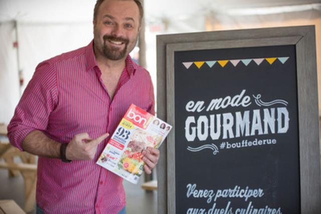 """Distinguished chef Jonathan Garnier, representing La Guilde Culinaire cooking school, will host head-to-head chef challenges, in cooperation with """"Tellement bon! magazine"""", at Promenades St-Bruno this summer   (CNW Group/Cadillac Fairview Corporation Limited)"""