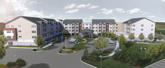 Architectural rendering of Green Falls Landing - Revera's new, state-of-the-art retirement community in ...