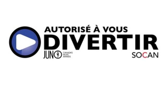 Le Gala des Prix Juno 2016 est le premier gala de remise de prix majeur à être certifié AUTORISÉ À VOUS DIVERTIR par la SOCAN pour son soutien envers des droits musicaux légaux, éthiques et équitables. (Groupe CNW/SOCAN)