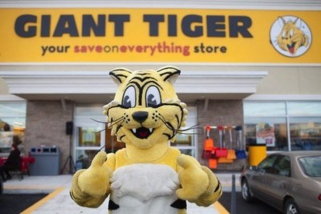 Friendly –- le Tigre Géant (Groupe CNW/Giant Tiger Stores Limited)
