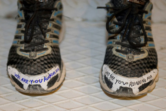 Captain (Capt) Krystal Turner, member of the Mission Transition Task Force (MTTF), decorated shoes for the Run ...
