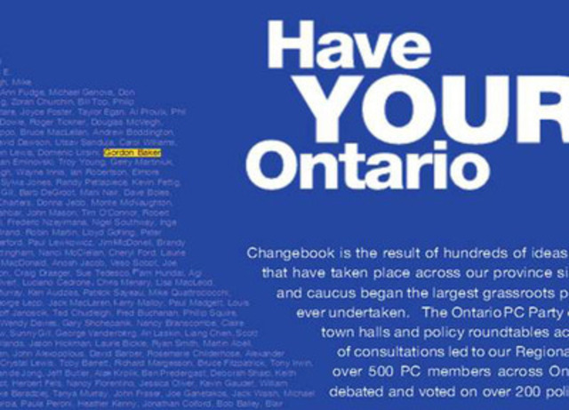 Gord Baker: Consultant on PC Platform. (CNW Group/Ontario Liberal Party)