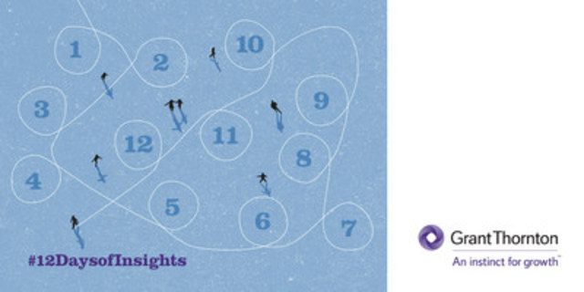 #12DaysofInsights is a social media campaign that reflects on thought leadership releases and insights developed by Grant Thornton LLP in 2016, authored by subject matter experts across the country and in some cases in collaboration with media partners. (CNW Group/Grant Thornton LLP)