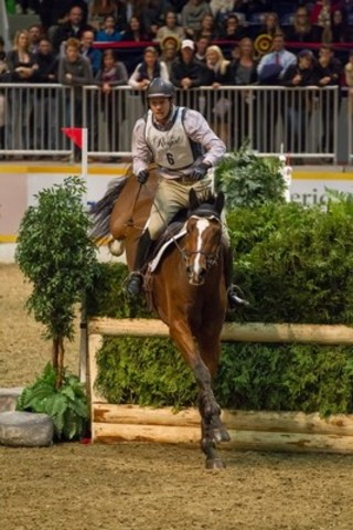 Canada''s Tik Maynard and Good Times emerged victorious in last year''s Horseware® Indoor Eventing Challenge at the Royal Horse Show. Photo credit - Ben Radvanyi Photography  (CNW Group/Royal Agricultural Winter Fair)