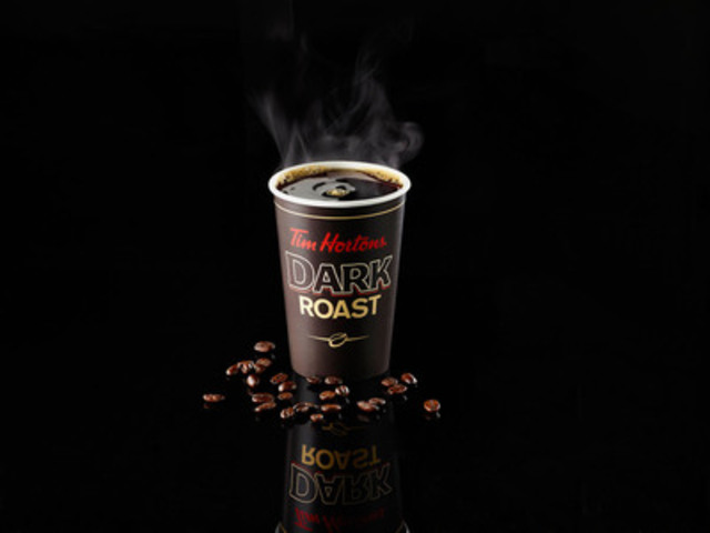 Tim Hortons launches its new Dark Roast coffee at restaurants across North America on Friday, August 15, marking the first time in the company's 50-year history that an alternate blend is available in restaurant in addition to Tim Hortons iconic Original premium blend (CNW Group/Tim Hortons)