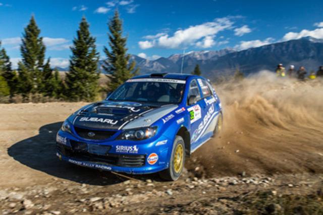 L'équipe canadienne des rallyes Subaru au Rocky Mountain Rally. Photo Aaron Kathman. (Groupe CNW/Subaru Canada Inc.)