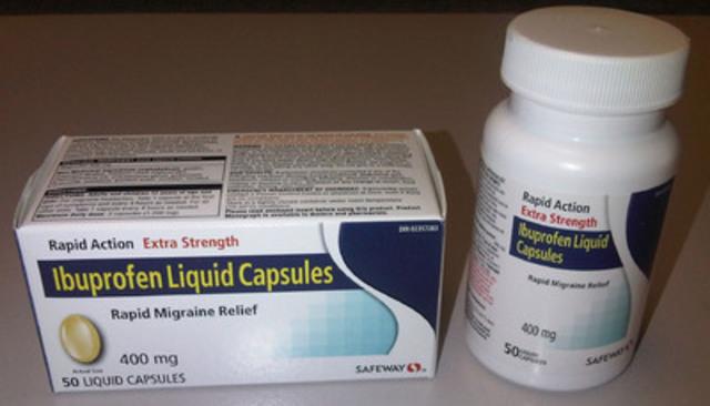 Safeway Extra Strength Ibuprofen Liquid Capsules. (CNW Group/Vita Health Products)