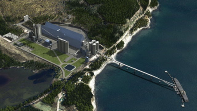 3D simulation of the Port-Daniel cement plant (CNW Group/McInnis Cement)