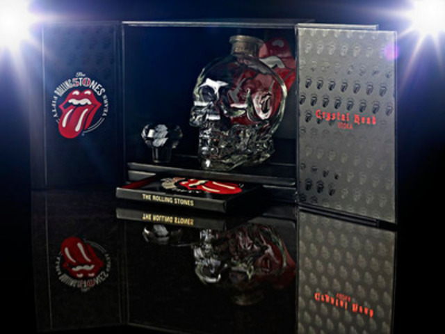 Crystal Head Vodka Launches Exclusive Rolling Stones 50th Anniversary Gift Set - now available in Canada. (CNW Group/Select Wines and Spirits)
