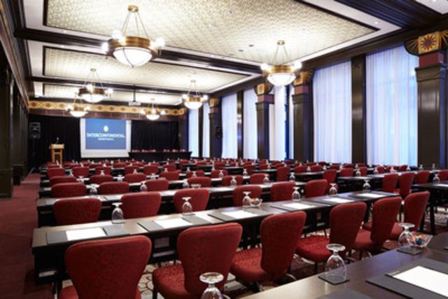 La salle de bal Sarah Bernhardt, l'une des 13 salles de réunion rénovées du centre de conférence Nordheimer, situé dans la partie historique de l'hôtel InterContinental Montréal. (Groupe CNW/INTERCONTINENTAL MONTREAL)