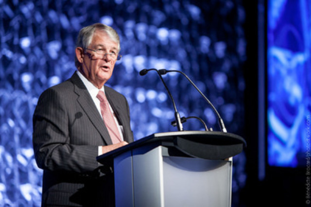 The keynote speech was delivered by Ian Bourne, Chair of SNC Lavalin, who spoke about revamping a business and affecting cultural change in times of crisis. (CNW Group/Institute of Corporate Directors (ICD))