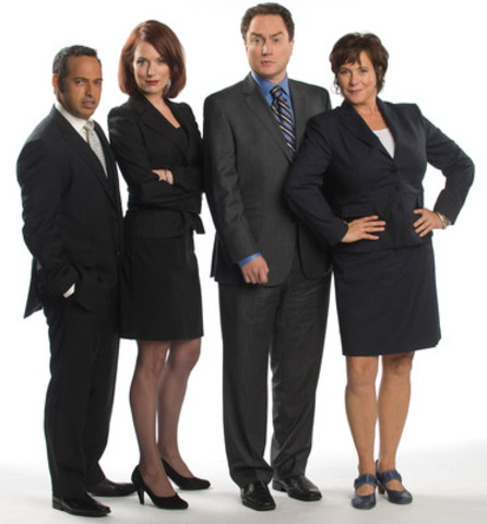 Shaun Majumder, Geri Hall, Mark Critch and Cathy Jones of 22 Minutes Tuesdays at 830 pm (CNW Group/Canadian Broadcasting Corporation)