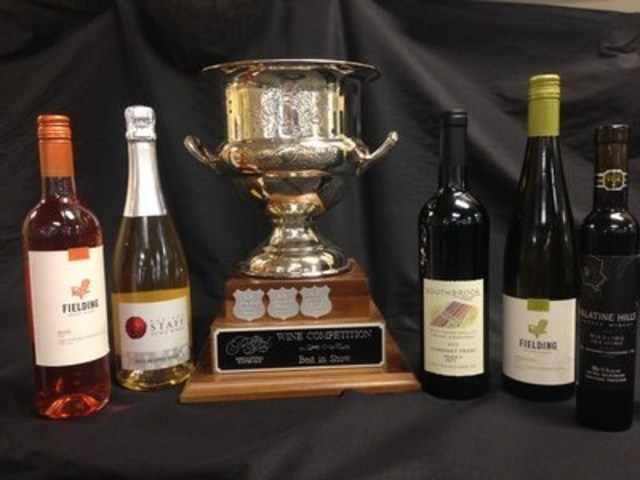 2016  Royal Wine Competition - Best In Show Winners (CNW Group/Royal Agricultural Winter Fair)