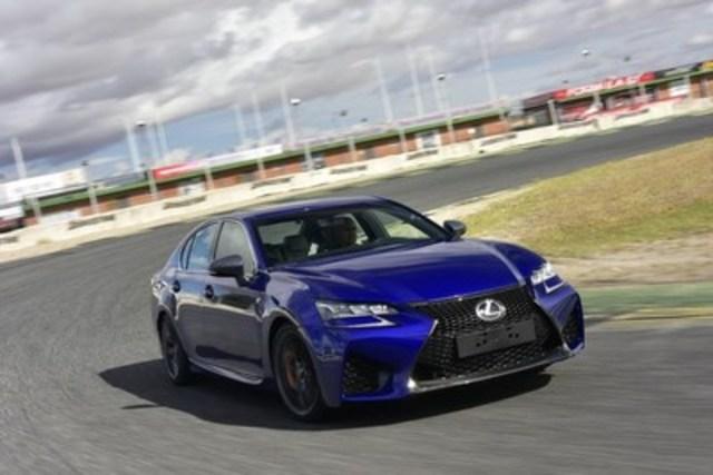 L'exaltante nouvelle Lexus GS F 2016 hautes performances sera présentée en vedette au Salon international de l'auto de Montréal 2016 (Groupe CNW/Toyota Canada Inc.)