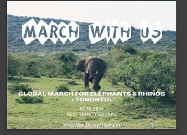 Elephants and Rhinos Face Extinction (CNW Group/Global March for Elephants and Rhinos)