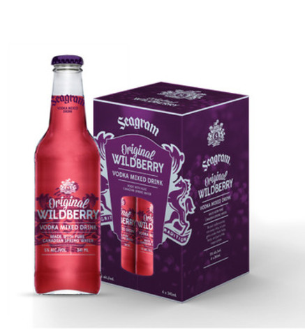 Seagram Wildberry New Design (CNW Group/Brick Brewing Co. Limited)