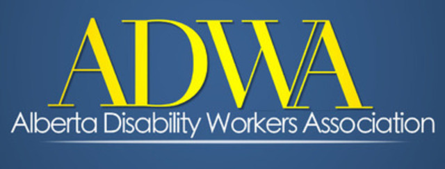 Alberta Disability Workers Association (ADWA) logo (CNW Group/Alberta Association for Community Living)