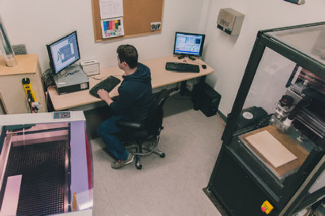Protoyping Studio in Action (seen here laser cutter, cnc mill) (CNW Group/MakeWorks)