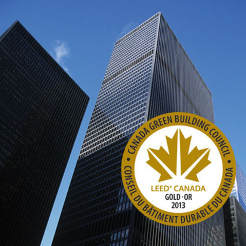 The Cadillac Fairview Corporation Limited is proud to announce that its Toronto-Dominion Bank Tower at 66 Wellington Street West has achieved LEED(R) Gold Certification under the Existing Buildings: Operations and Maintenance program presented by the Canada Green Building Council. (CNW Group/Cadillac Fairview Corporation Limited)