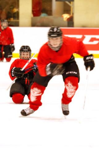 Une soixantaine de jeunes joueurs ont pris part au Speed Camp CCM 2013 (Groupe CNW/CCM Hockey)