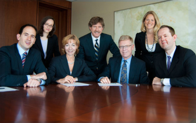 Aird & Berlis LLP's P3 Infrastructure Team: Front row, left to right: Simon Finlayson, Heidi Visser, Douglas Younger and Trevor deBoer. Back row, left to right: Sandra Dos Santos, Michael Brooks and Deborah Holbrook. (CNW Group/Aird & Berlis)