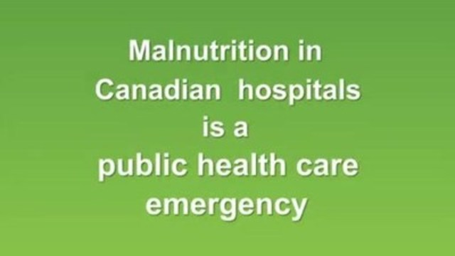 Video: To highlight the issue of malnutrition in Canadian hospitals, the Canadian Malnutrition Task Force has released a 15 second video to coincide with Canadian Malnutrition Week (September 28 to October 2).