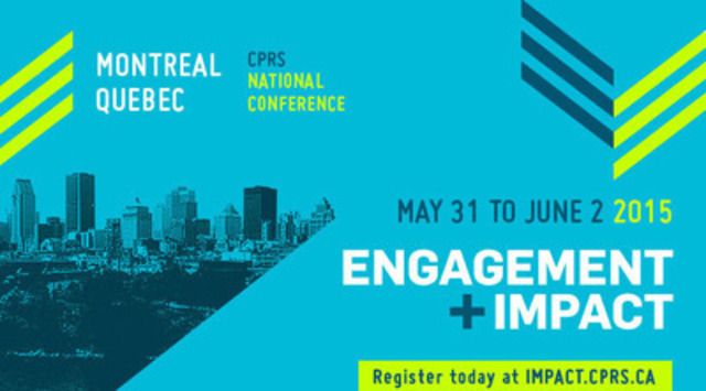 Engagement + Impact 2015. (CNW Group/Canadian Public Relations Society)