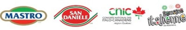 Logo : Mastro, San Daniele, Congrès national des Italo-Canadiens, Semaine italienne de Montréal (Groupe CNW/Congrès national des Italo-Canadiens)