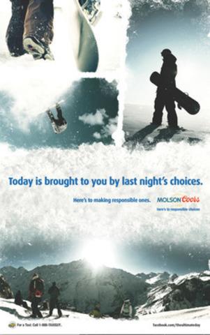 Les étudiants ont la chance de vivre une journée d'aventure et célébrer les choix responsables à travers le Canada (Groupe CNW/MOLSON COORS CANADA)
