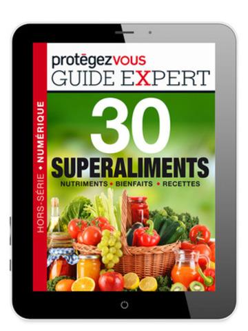 « Le guide expert 30 superaliments est le premier hors-série numérique de la nouvelle collection « guides experts » de Protégez-Vous, vendue exclusivement dans son application iPad. Pour télécharger l'appli : www.protegez-vous.ca/ipad  »  (Groupe CNW/Protégez-Vous)