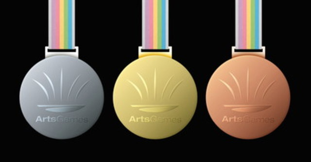 ArtsGames gold, silver and bronze medals (CNW Group/ArtsGames)