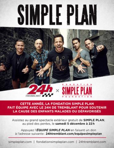 Simple Plan participe au 24h de Tremblant (Groupe CNW/Fondation Simple Plan)