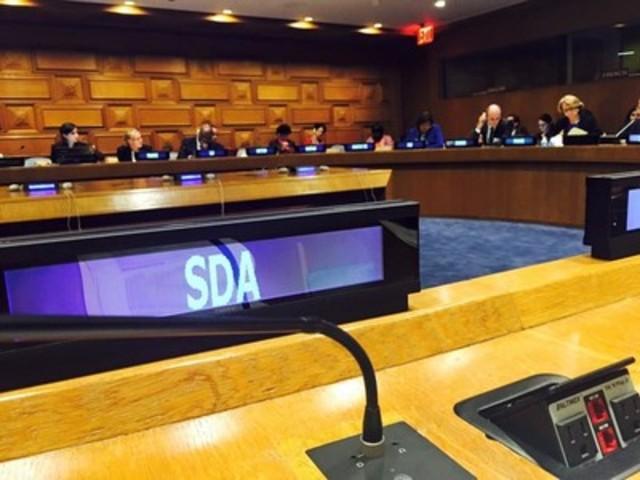 La SDA présente le Technopôle Angus à l'ONU (Groupe CNW/Société de développement Angus)