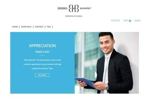 L'entreprise Solutions de reconnaissance Rideau lance le site web Birks Business(MC) (Groupe CNW/Rideau Solutions de reconnaissance)